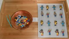 "Photocopy or photograph our collection of plastic little people & make a matching board for the children  to find the matching person & match or add it to the pattern ("",)"