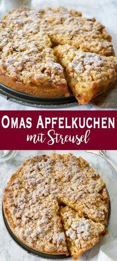 Grandma's apple pie with crumble (apple crumble)- Omas Apfelkuchen mit Streusel . - Grandma's apple pie with crumble (apple crumble)- Omas Apfelkuchen mit Streusel (Apfelkrümel) An - Easy Cheesecake Recipes, Easy Cookie Recipes, Easy Desserts, Easy Dinner Recipes, Baking Recipes, Dessert Recipes, Pie Recipes, Simple Recipes, German Food Recipes