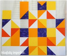 Disney Mary Blair style wall hanging quilt - Blissfully Imperfect blog - Jackie Kirner