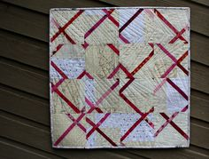 A Quilter's Table: Crosscut Blocks Tute on this quilt pattern plus using thread in the binding to add interest and color Quilting Tutorials, Quilting Projects, Quilting Designs, Quilting Ideas, Low Volume Quilt, Black And White Quilts, Quilt Modernen, Textiles, Scrappy Quilts
