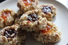 Barefoot Contessa's Jam Thumbprint Cookies — Fancy Casual Best Thumbprint Cookies, Cookie Recipes, Dessert Recipes, Bar Recipes, Party Desserts, Baking Recipes, Barefoot Contessa, Italian Cookies, Cookies