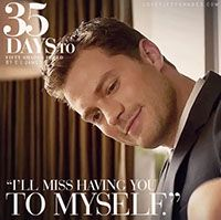 """35 DAYs to FREED """"I'll miss having you to myself."""" I reach up to caress his face. """"Me, too."""" I kiss him. """"It was a wonderful honeymoon. Thank you."""" """"Go to work, Mrs. Grey."""" """"You, too, Mr. Grey."""" Fifty Shades Freed by E L James #DakotaJohnson #JamieDornan"""