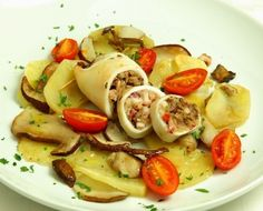 Découvrez notre recette de Calamars farcis aux champignons