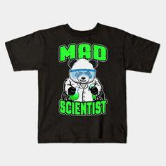Mad Scientist Panda Bear Funny Animal STEM Science Geek - Science Lover - Kids T-Shirt | TeePublic