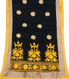 Vintage Dupatta Long Scarf Embroidered Indian by VintageHaat