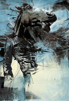 Hosber Art - Blog de Arte & Diseño.: Un fuerte choque de estilos en la ilustración de Russ Mills