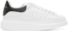 Alexander McQueen White Thick Sole Sneakers