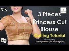 Hello everyone my name is babita agarwal This video will teach you the drafting and cutting of latest designer princess cut blouse which is very trending now. Blouse Designs Silk, Designer Blouse Patterns, Dress Sewing Patterns, Princess Cut Blouse Design, Blouse Tutorial, Stitching Dresses, Stylish Blouse Design, Techniques Couture, Fashion Sewing