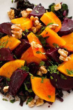 One of the things I love best about this refreshing salad is that it doesn't wilt, making it a a great choice for a potluck or a buffet There's a nice contrast of textures going on, with the crunchy fennel, soft beets and juicy oranges The dish has Moroccan overtones, with the combination of oranges and beets, and the cumin in the dressing.