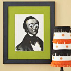 Halloween Deko Wand-Ideen selber machen-schauerliche Bilder
