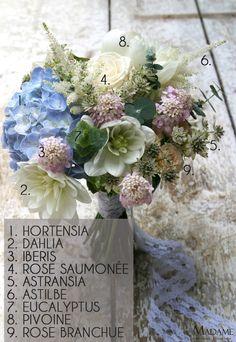 Bouquet de mariee bleu par Madame Artisan fleuriste - La mariee aux pieds nus