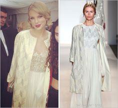 Taylor Swift in Reem Acra & Jenny Packham