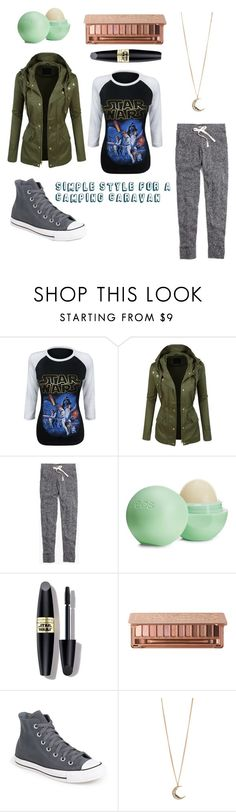 """""""Camping, Anyone?"""" by take-me-to-texas ❤ liked on Polyvore featuring LE3NO, Madewell, Eos, Max Factor, Urban Decay, Converse, Aéropostale, women's clothing, women's fashion and women"""