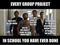 Every group project  in school  you have ever done.