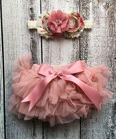 Rose Tutu Bloomers & Flower Headband - Infant