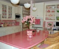 pink bench top