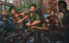 I created this fan art on The Last of Us as part of my new class on Skillshare that shows my entire digital process. Join the class: The Last of Us (Tutorial) Patrick Brown, Sailor Moon, Arte Zombie, The Last Of Us2, Apocalypse Art, Fanart, Brown Art, Cosplay, Video Game Art