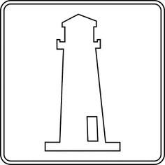 Lighthouse, Outline - Little Red Lighthouse Grey Bridge - FIAR Lighthouse Clipart, Lighthouse Art, Little Red Lighthouse, Beach House Lighting, Types Of Craft, Stencil Patterns, Shell Art, Button Art, Scrapbook Sketches