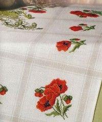 Вышивка крестом, бесплатные схемы вышивки крестом скатертей