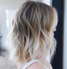 40 Styles with Medium Blonde Hair for Major Inspiration Messy Blonde Balayage Ombre Lob Blonde Balayage Mid Length, Mid Length Blonde Hair, Medium Blonde Hair Color, Blonde Ombre Short Hair, Shoulder Length Layered Hair, Brown Ombre Hair, Short Hair With Bangs, Ombre Hair Color, Hair Color Balayage