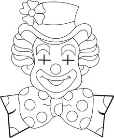 Blanco Designs Cute Coloring Pages, Adult Coloring Pages, Coloring Pages For Kids, Coloring Sheets, Coloring Books, Clown Crafts, Carnival Crafts, Carnival Themes, Clown Pics