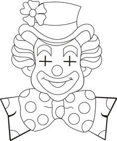 cara de palhaço p colorir - Pesquisa Google