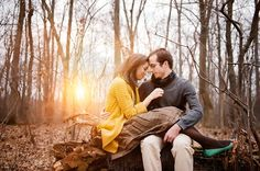 Beautiful winter engagement session by http://photographydujour.com