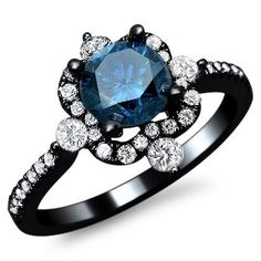 1.20ct Fancy Blue Round Diamond Engagement Ring 18k Black Gold with a .65ct Center Diamond and .55ct of Surrounding Diamonds Front Jewelers,http://www.amazon.com/dp/B00BEJK6GO/ref=cm_sw_r_pi_dp_kyHlsb0WBFD0JBP6
