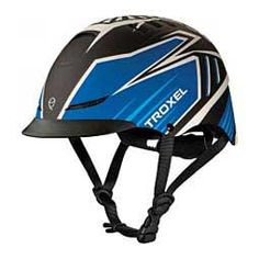 TX Horse Riding Helmet Blue Raptor - Item # 43655