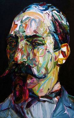 "Aaron Smith, Sprater, 2010, oil on panel, 28"" x 18"""