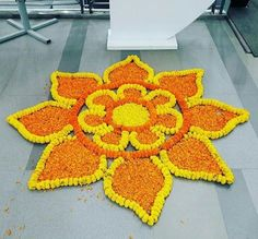 trendy home garden wedding floral design - Supermarket Riot Easy Rangoli Designs Diwali, Rangoli Simple, Rangoli Designs Latest, Simple Rangoli Designs Images, Rangoli Designs Flower, Rangoli Border Designs, Colorful Rangoli Designs, Rangoli Ideas, Diwali Rangoli