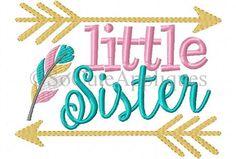 Little Sister or Big Sister Arrow Sibling Shirt or Onesie