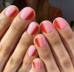 Nail Art Designs for Spring and Summer 2019 – Major Mag. Nail Art Designs for Spring and Summer 2019 – Major Mag. Cute Gel Nails, My Nails, Spring Nails, Summer Nails, Nails Summer Colors, Summer Nail Art, Pretty Nails For Summer, Color Block Nails, Colour Block