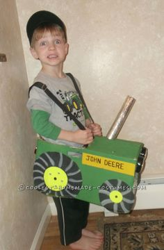 Coolest Homemade Tractor Costume for a Boy... This website is the Pinterest of costumes