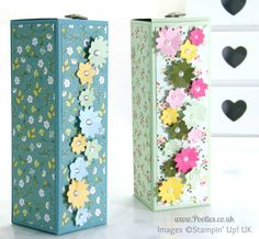 Pootles' Fold Flat Box Tutorial using Stampin' Up! All Abloom DSP Stack