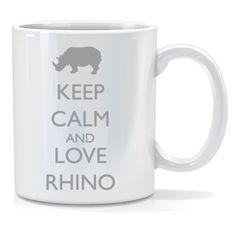 Tazza personalizzata Keep calm and love rhino