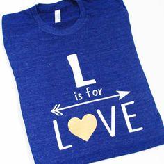Love  Women's t-shirt  tee  unisex tri-blend   by blueenvelope