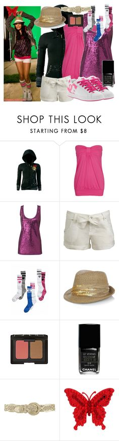 """Sneakernight"" by simpchap ❤ liked on Polyvore featuring Ecko Unltd., Forever 21, Oasis, Wet Seal, Victoria's Secret, DC Shoes, Eugenia Kim, NARS Cosmetics, Chanel and Tarina Tarantino"