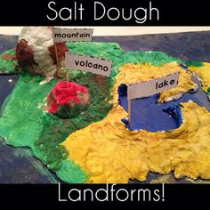 make landform map with playdough - Google Search