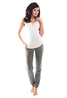 92ea1e346d Purpless Maternity Pregnancy Over Bump Joggers Trousers 1307 6 Dark Gray  Melange
