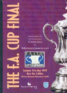 Chelsea v Middlesbrough FA Cup Final Programme 1997