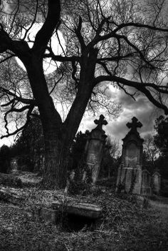 Creepy Graveyards. Would love to get some of this feel for my sleeve
