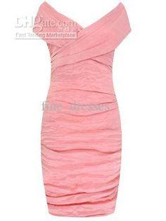 Wholesale Formal Dresses - Buy 2012 Fashion Knee Length Pink Column Short Off-the-shoulder Mother of the Bride Formal Dresses, $73.86 | DHga...