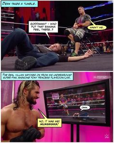 This is hilarious Funny Wrestling, Wwe Funny, Hilarious, I Just Dont Care, Seth Rollins, Wwe Wrestlers, Roman Reigns, Wwe Superstars, Funny Moments