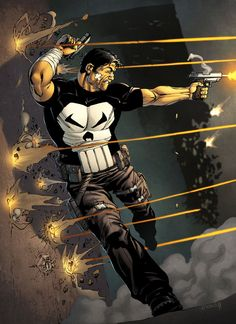 The Punisher - line art: Robert Atkins, color: spidermanfan2099 on DeviantArt