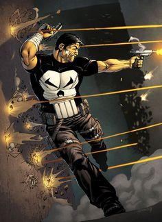 The Punisher - line art: Robert Atkins, color: spidermanfan2099 on DeviantArt