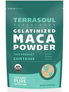 Terrasoul Superfoods Organic Gelatinized Maca Powder, 16 Ounce ❤ Terrasoul Superfoods