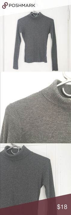 Brandy Melville ribbed turtle neck Tight fitting ribbed roll over turtle neck shirt. Brandy Melville Tops Tees - Long Sleeve