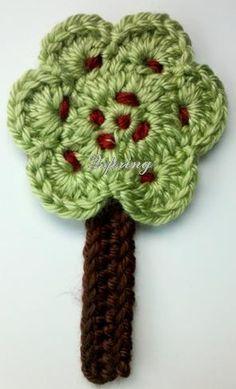 3 Häkeln Baum Appliken Handmade