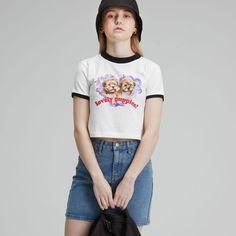 #반팔 #반팔티셔츠 #티셔츠 #그래픽티셔츠 #그래픽 #반팔티 #크롭 #CROP #TOP #T #PUPPY #LOVELY Mom Jeans, Puppies, Crop Tops, T Shirt, Pants, Women, Fashion, Supreme T Shirt, Trouser Pants